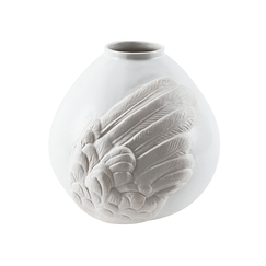Wing Bowl Vase - Small - White
