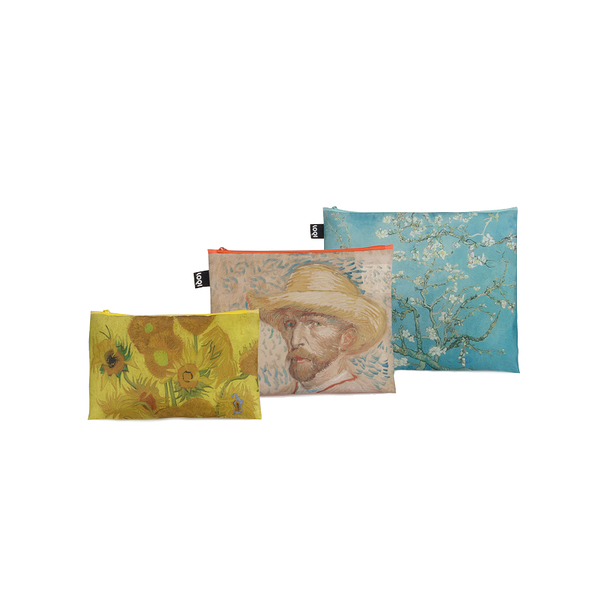Set of 3 zip pockets Vincent Van Gogh - Loqi