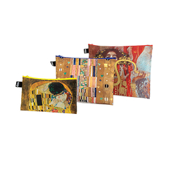 Set of 3 zip pockets Gustav Klimt - Loqi