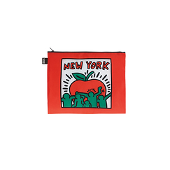 Set of 3 zip pockets Keith Haring New York - Loqi