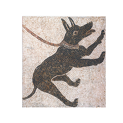 Pompeii - Dog Mosaic Sketchbook A5