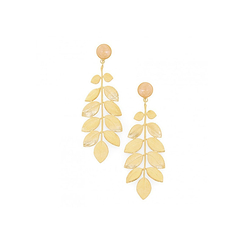 Boucles d'oreilles Athena - Quartz rose - Collection Constance