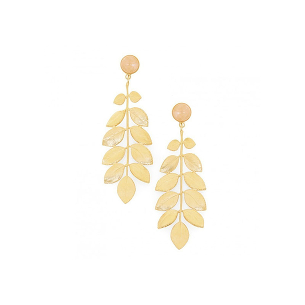 Athena Earrings - Pink Quartz - Collection Constance