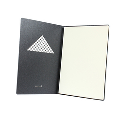 Black notebook A5 - Louvre Pyramide