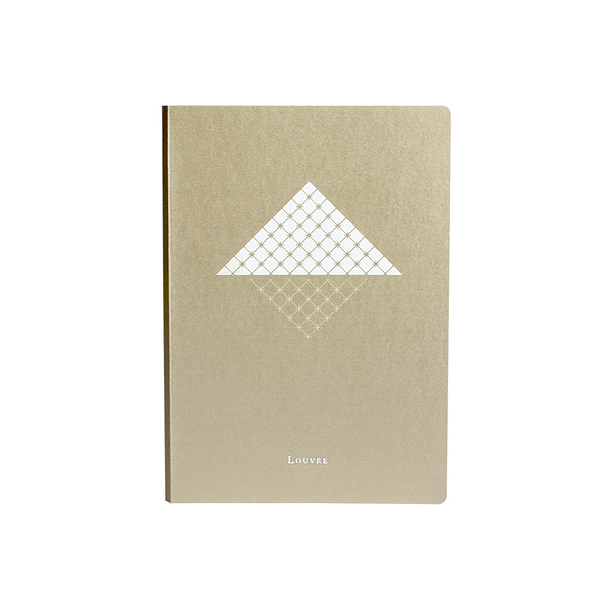 Cahier A5 champagne - Louvre Pyramide
