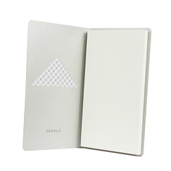 Silver pocket notebook - Louvre Pyramide