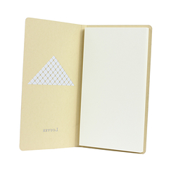Champagne pocket notebook - Louvre Pyramide