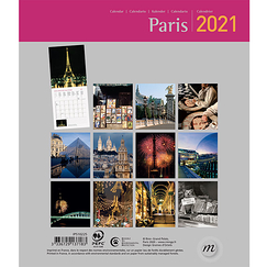 Paris Small Calendar 2021