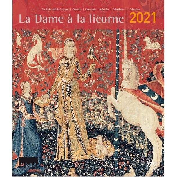 2021 Lady with Unicorn Calendar - Small size