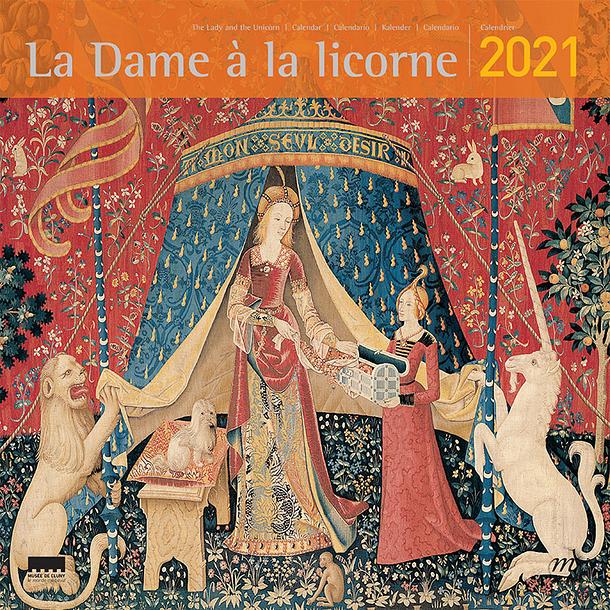 The Lady and the Unicorn Large Calendar 2021 | Boutiques de Musées