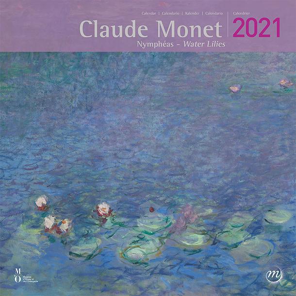Calendrier Serie Us 2021 Claude MoWater Lilies Large Calendar 2021 | Boutiques de Musées