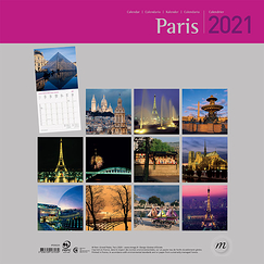 Paris Large Calendar 2021