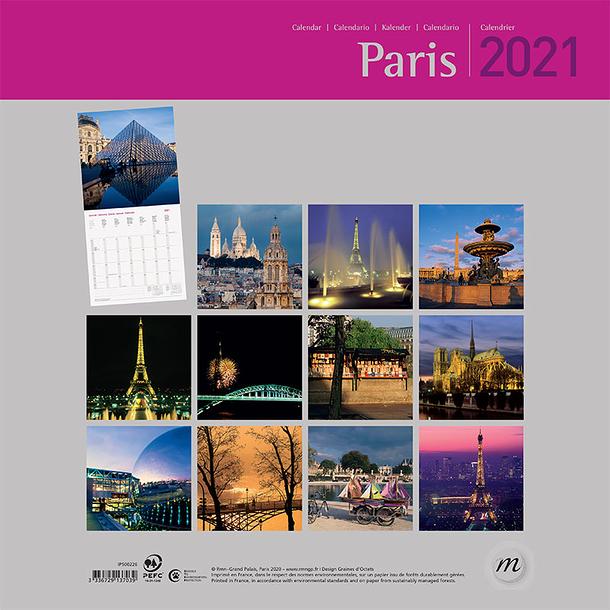 Calendrier 2021 Paris   Grand format | Boutiques de Musées
