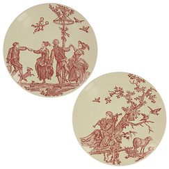 "Gift box of 4 dessert plates Jouy ""The Delights of the Four Seasons"""