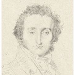 Portrait of Paganini, violinist and composer - Ingres