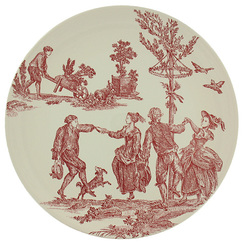 "Round cake plate ""The Delights of the Four Seasons"""