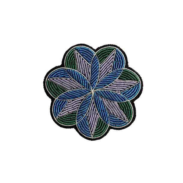 Peony Stained-glass Brooch - Macon & Lesquoy