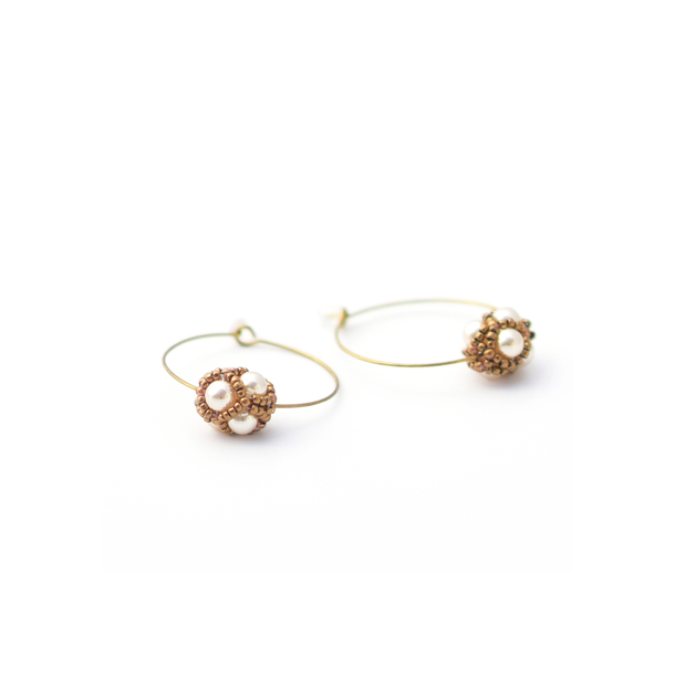 Renaissance Nacre Circle Earrings - Florence Buhler