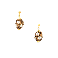 Renaissance Drop Nacre Earrings - Florence Buhler