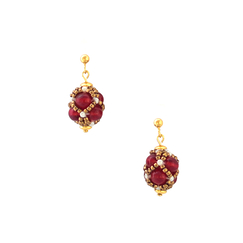 Renaissance Drop Garnet Earrings - Florence Buhler