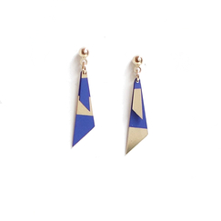 Blue Pépites Earrings