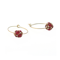 Renaissance Garnet Circle Earrings - Florence Buhler