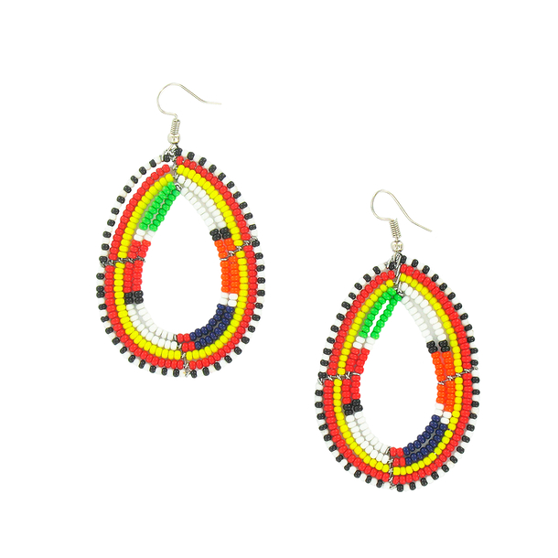 Oval Maasai Earrings