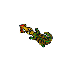 Fishing Crocodile Brooch - Macon & Lesquoy