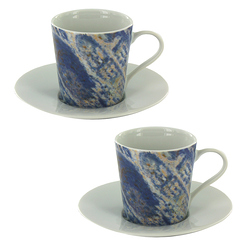 "Set de 2 tasses à café ""Cathédrale"""