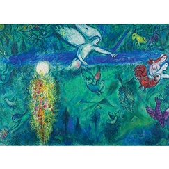 Marc Chagall - Adam And Eve Chased From The Paradise Poster