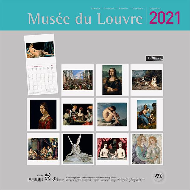 Musée du Louvre Large Calendar 2021 | Boutiques de Musées