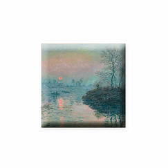 Sunset on the Seine by Claude Monet - Magnet