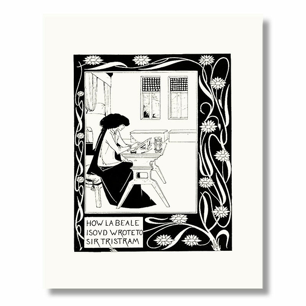 Reproduction sous Marie-Louise Audrey Beardsley - How La Beale Isoud Wrote to Sir Tristram