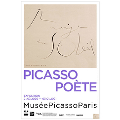 Exhibition poster - Picasso poet