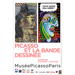 Exhibition poster - Picasso Comics