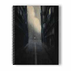 Léon Spilliaert - Hofstraat, Ostende Spiral Notebook