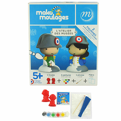2 Figurines for moulding and decorating Napoleon and Napoleonette - Mako moulages