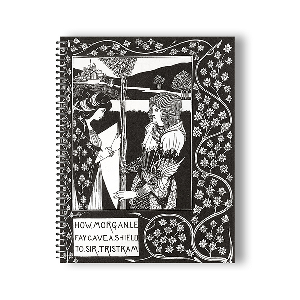 Aubrey Beardsley - Morgan Le Fay Spiral Notebook