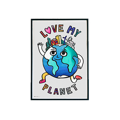 Giant coloring poster - Love my Planet