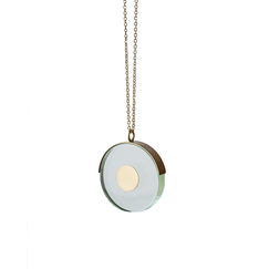 Round glass necklace - Rosa Mendez