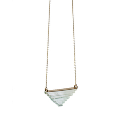 Glass pyramid necklace - Rosa Mendez