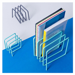 Magazine Rack Blue - Block Design