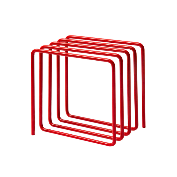 Magazine Rack Red - Block Design