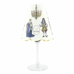 "2 paper lampshades for wine glasses ""A la Cour de Versailles"""