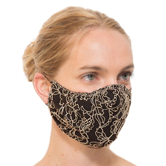 Reusable mask in lace The Shape - Dentelles André Laude