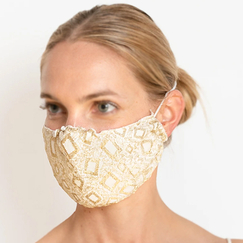 Reusable mask in lace La Favorite - Dentelles André Laude