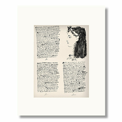 Reproduction Pablo Picasso - Poems and lithographs