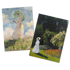 "2 notebooks Monet ""Women"""