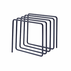 Magazine Rack Grey - Block Design