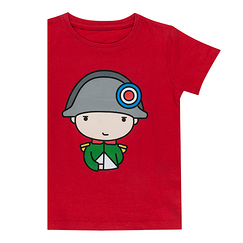 Red T-shirt for children Napoleon